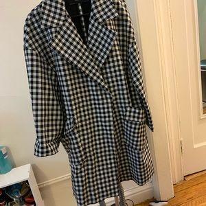 Zara overcoat plaid